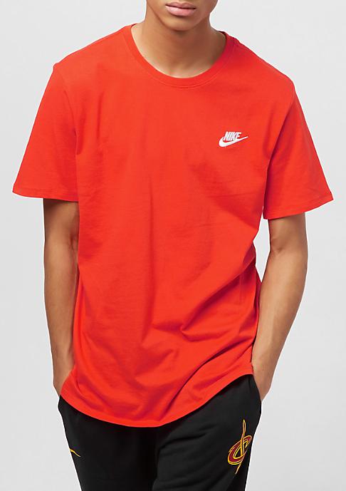 NIKE Club Embrd team orange/white