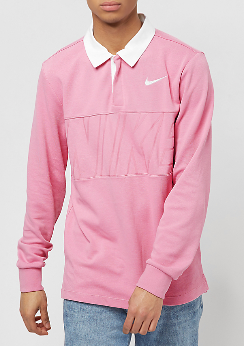 NIKE SB Dry Top Rugby elemental pink/white