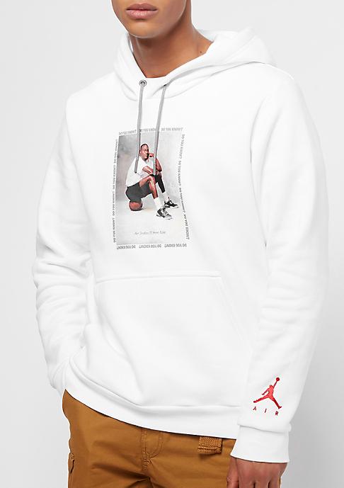 JORDAN Flight Fleece AJ3 white/black/gym red