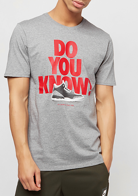 JORDAN AJ3 DO YOU KNOW carbon heather/gym red