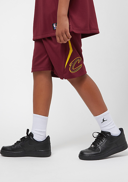 NIKE Junior Cleveland Cavaliers Shorts burgundy