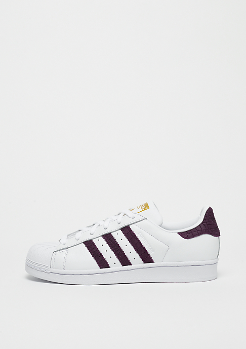 adidas Superstar white/red night/gold metallic