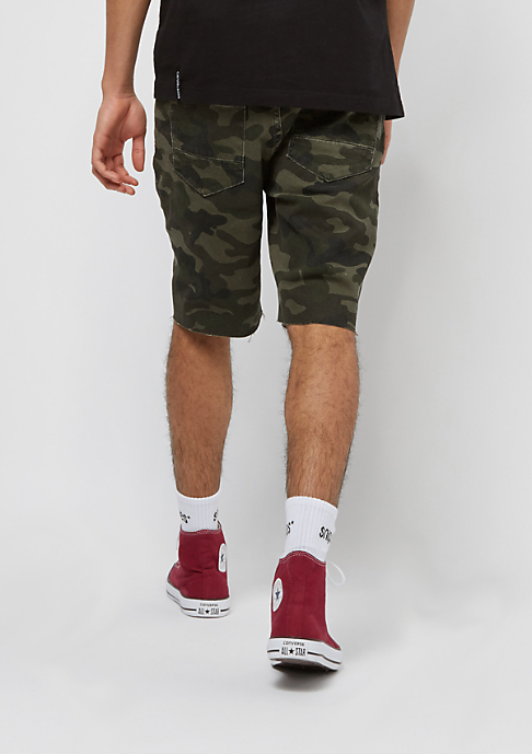 Cayler & Sons ALLDD Sid Denim Shorts woodland camo