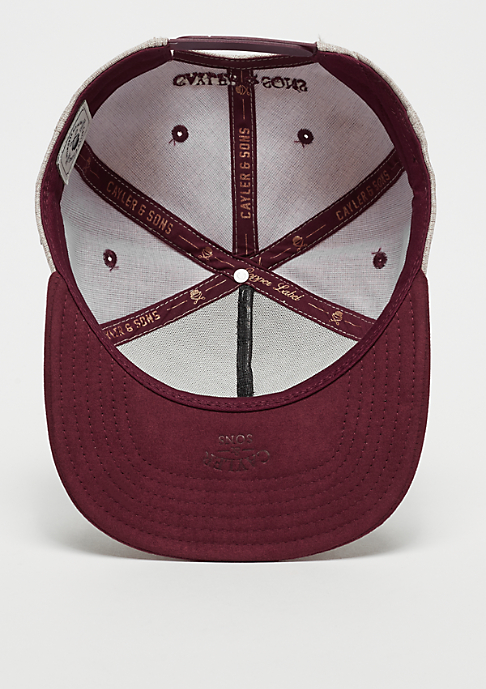 Cayler & Sons CL Bright Minds sand/maroon