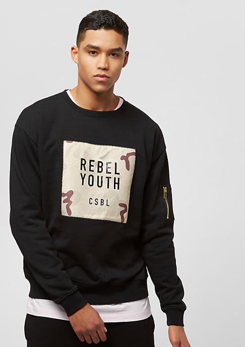 Cayler & Sons Rebel Youth Crewneck black/desert camo