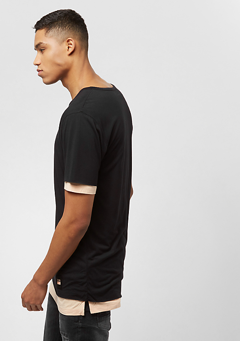Cayler & Sons BL Deuces Long Layer Tee black/pale peach