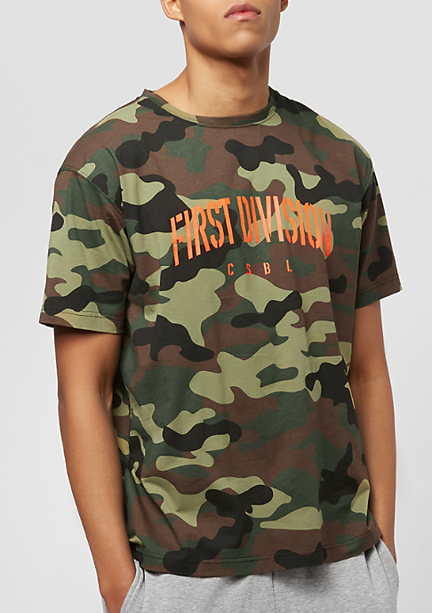 Cayler & Sons Patched Oversized woodland camo/orange