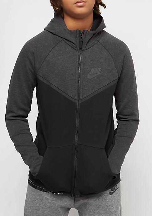 NIKE Junior Tech Fleece black heather/anthracite