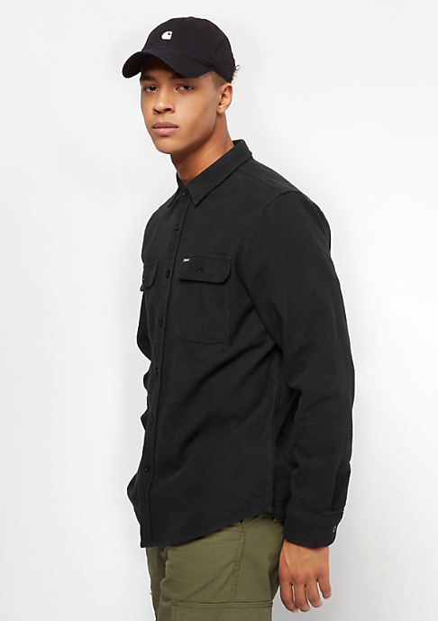 Brixton Bowery Flannel washed black