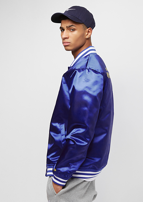 New Era Tip Off Sateen Bomber Golden State Warriors majestic blue