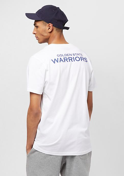 New Era Tip Off Chest 'n' Back Golden State Warriors optic white