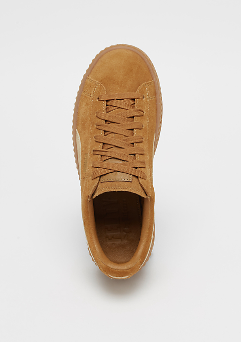 Puma FENTY by RIHANNA Cleated Creeper Suede Golden Brown