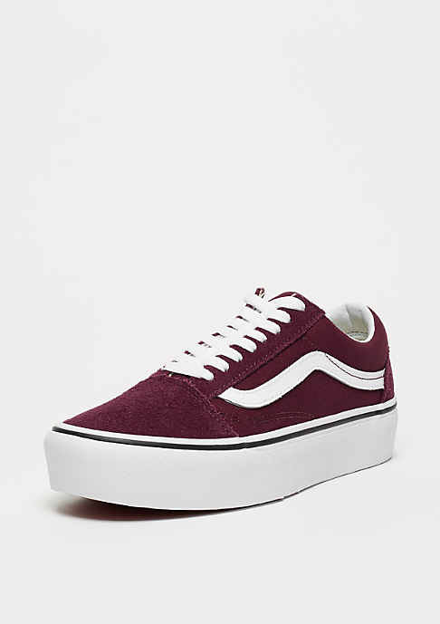VANS UA Old Skool Platform port royale/true white