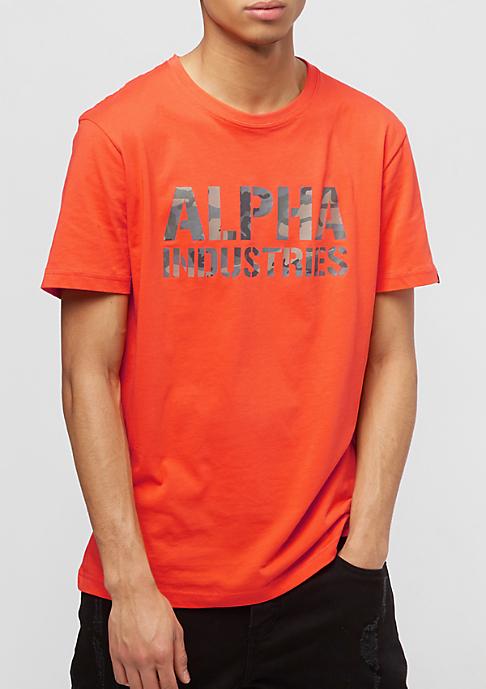 Alpha Industries Camo Print flame orange