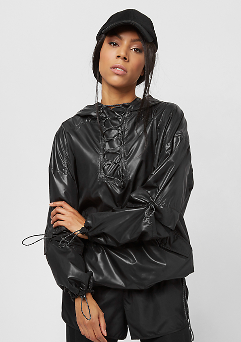 IVY PARK Wet Look Lace Up black