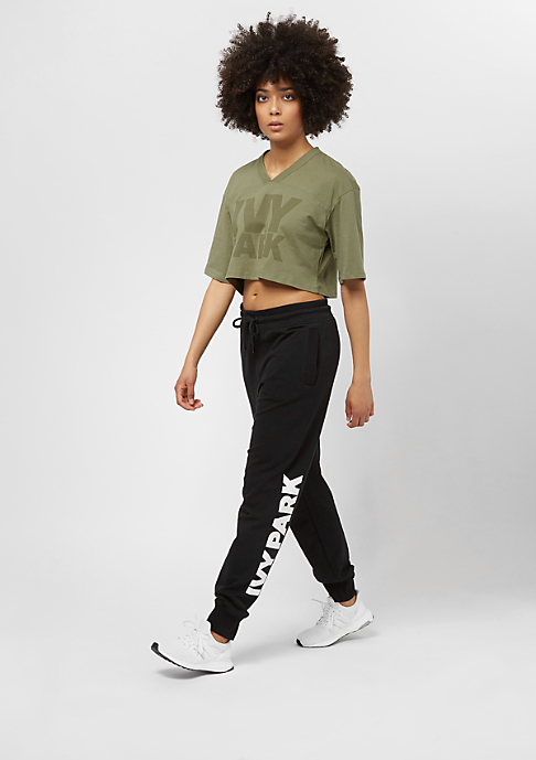 IVY PARK Programme Oversized Crop dark green