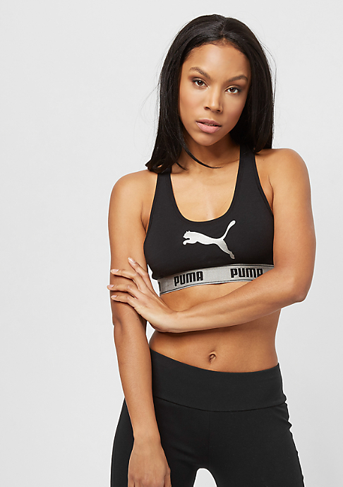 Puma Racer Back Bra With Cat Logo E-Com black