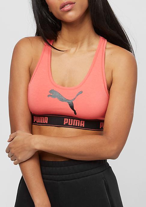 Puma Racer Back With Cat Logo E-Com coral