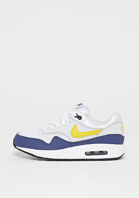 NIKE Air Max 1 (GS) white/tour yellow-bleu recall
