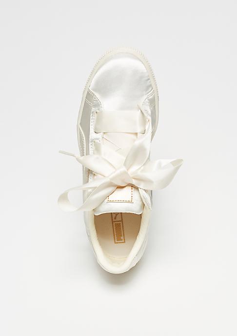 Puma Basket Heart Tween whisper white-gold-white