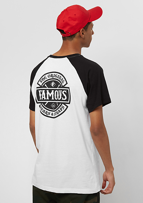 Famous Chaos Patch Raglan white/black