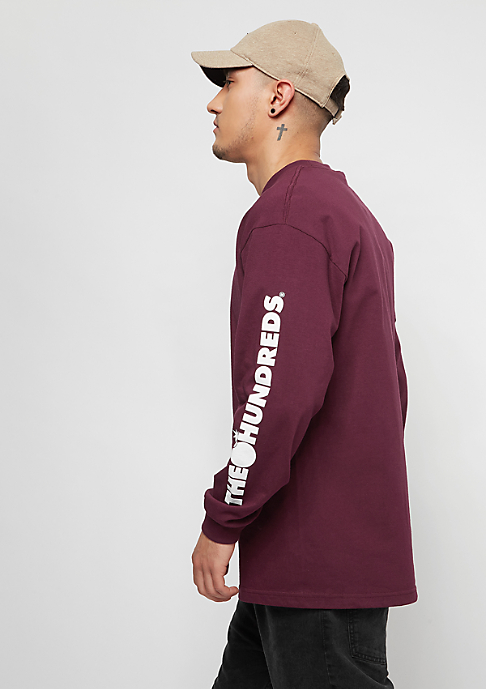 The Hundreds Forever Solid Bomb Crest burgundy