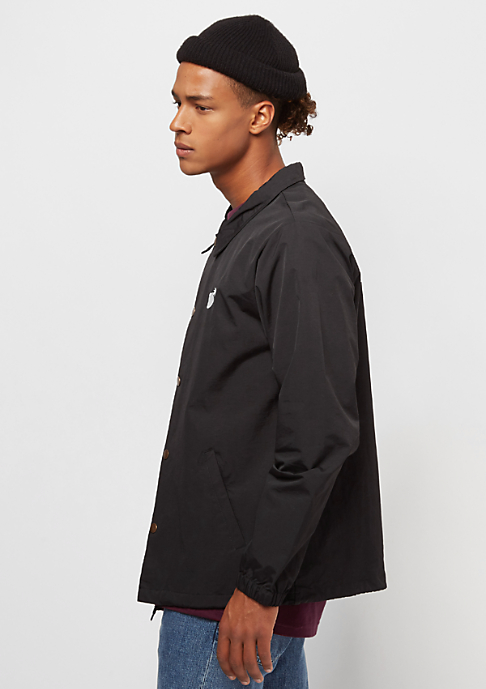 The Hundreds Bar Logo Coaches Jacket black