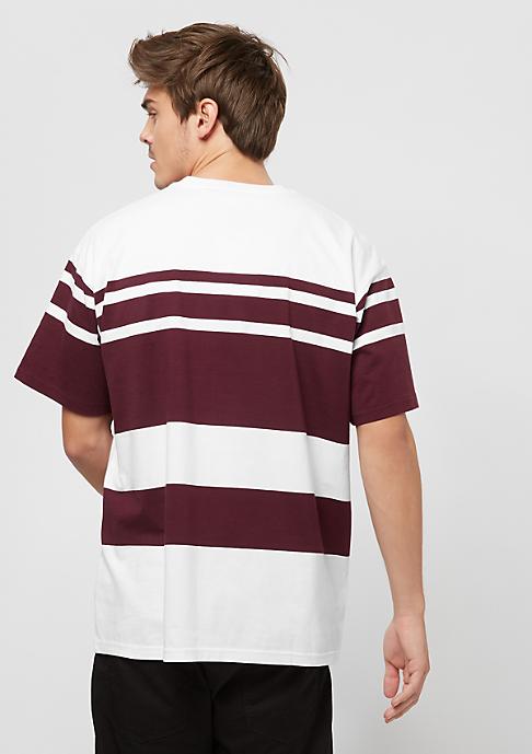 Carhartt WIP Orlando stripe white/chianti