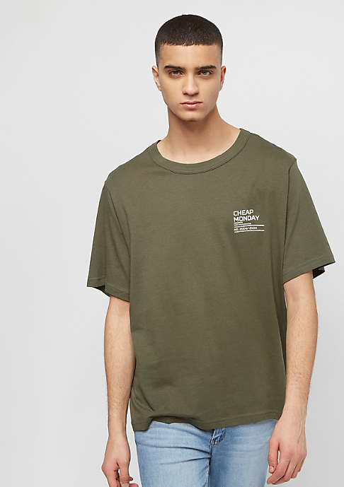 Cheap Monday Boxer Focus Text dark olive