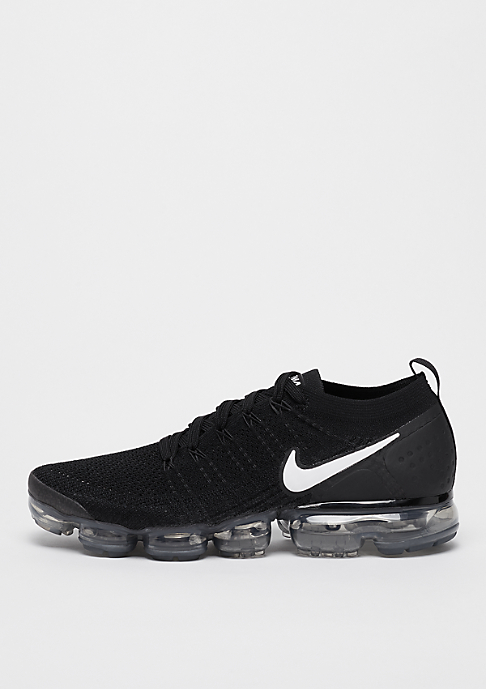 NIKE Air VaporMax Flyknit 2 black/white/dark grey/metallic silver