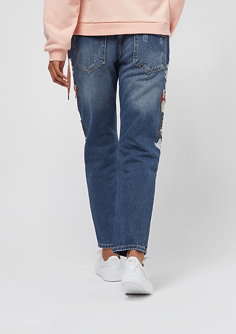 Sixth June Washed Skinny Denim blue