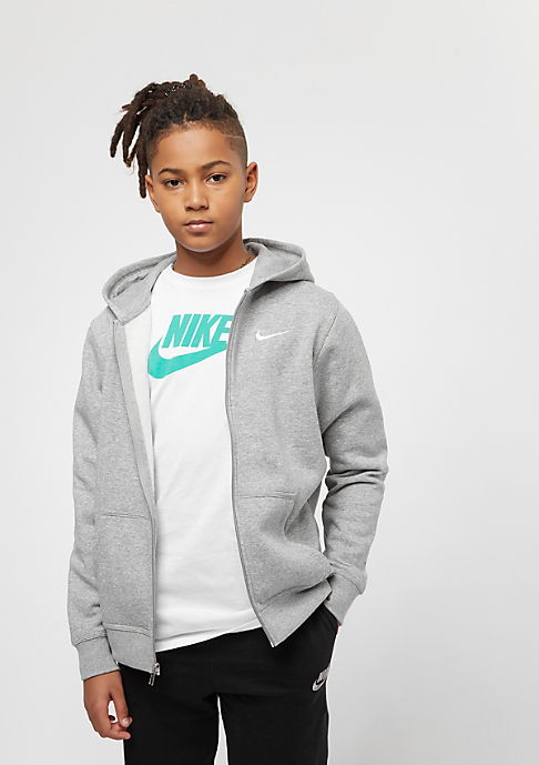 NIKE Junior YA76 Brushed Fleece dark grey heather/white