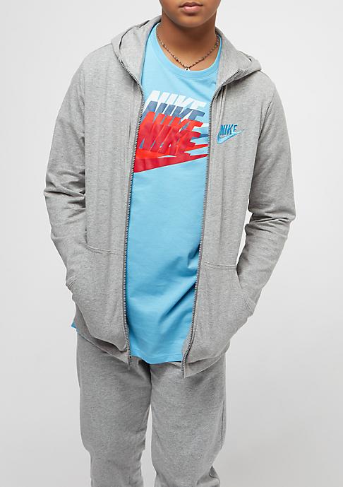 NIKE Junior NSW Hoodie dark grey heather/equator blue