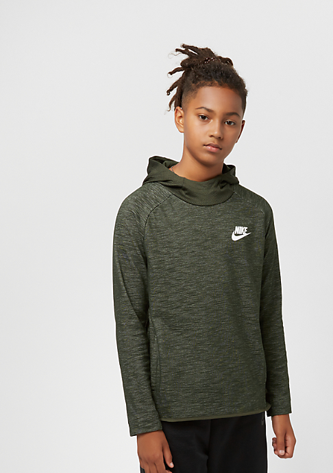 NIKE Junior NSW Hoodie AV15 sequoia/white