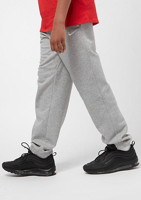 NIKE Junior Brushed Fleece Cuffed dark grey heather/gym red