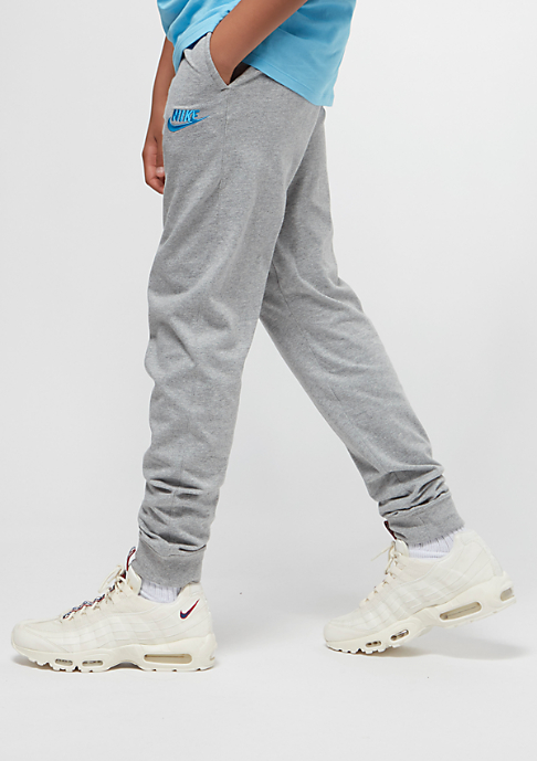 NIKE Junior NSW Pant Jersey Jogger dark grey heather/equator blue