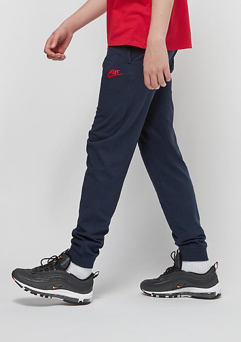 NIKE Junior NSW Jersey Jogger obsidian/university red
