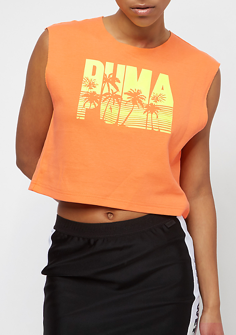 Puma Fenty By Rihanna Sleeveless Crop orange pop