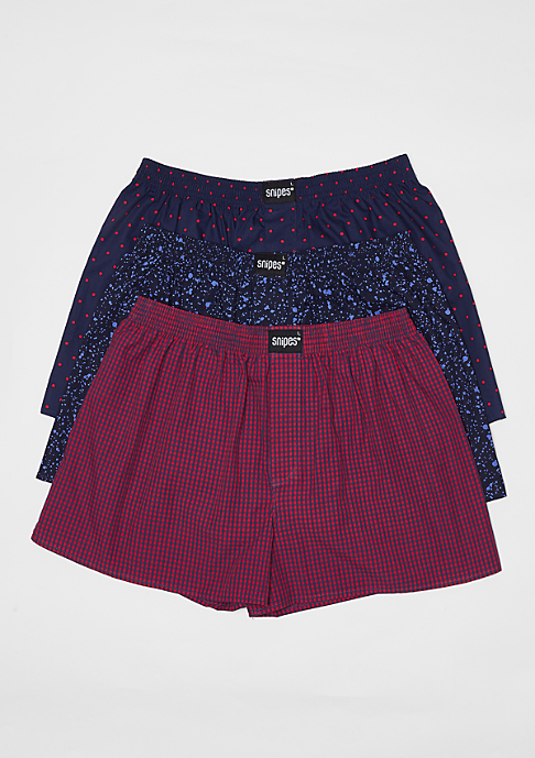 SNIPES 3er Boxer Cuffed dots/multi