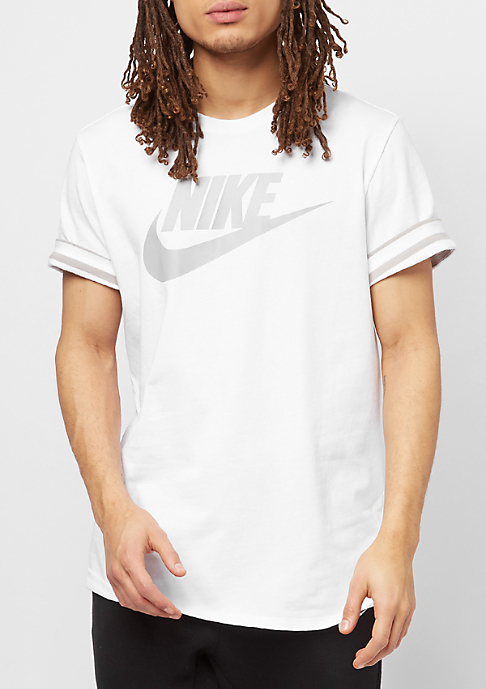 NIKE NSW Striped Roll Sleeve white/cobblestone