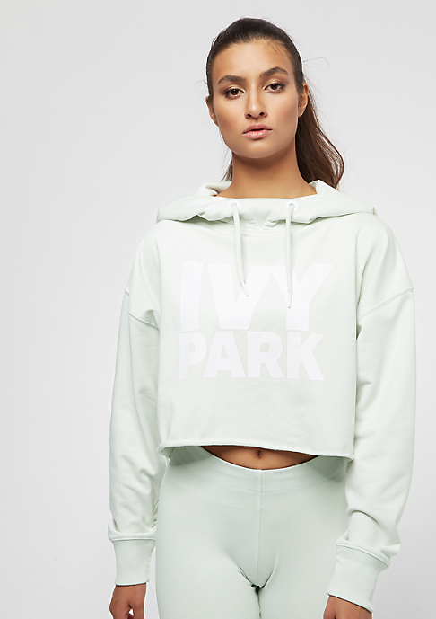 IVY PARK Raw Edge Crop Overhead Logo mint