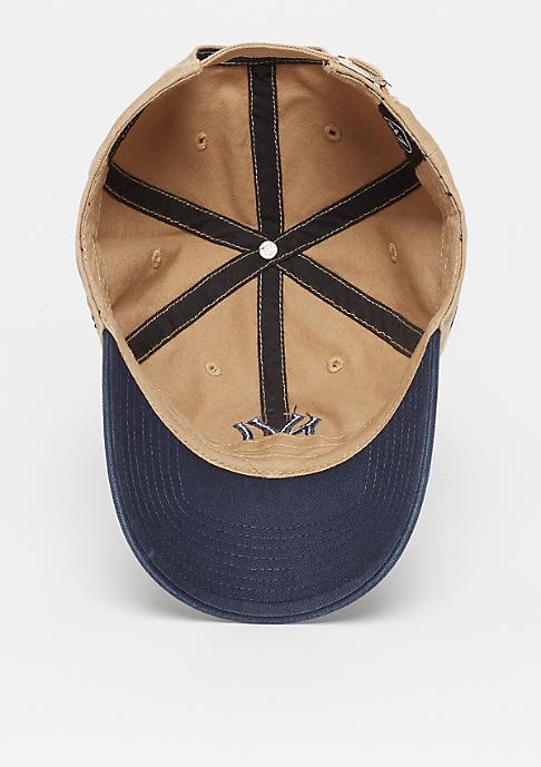 47 Brand MLB New York Yankees Two Tone 47 CLEAN UP khaki