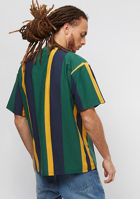 Karl Kani College Stripes green/yellow/black