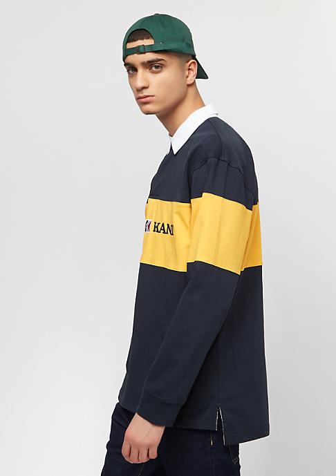 Karl Kani Block Rugby Shirt blue/yellow