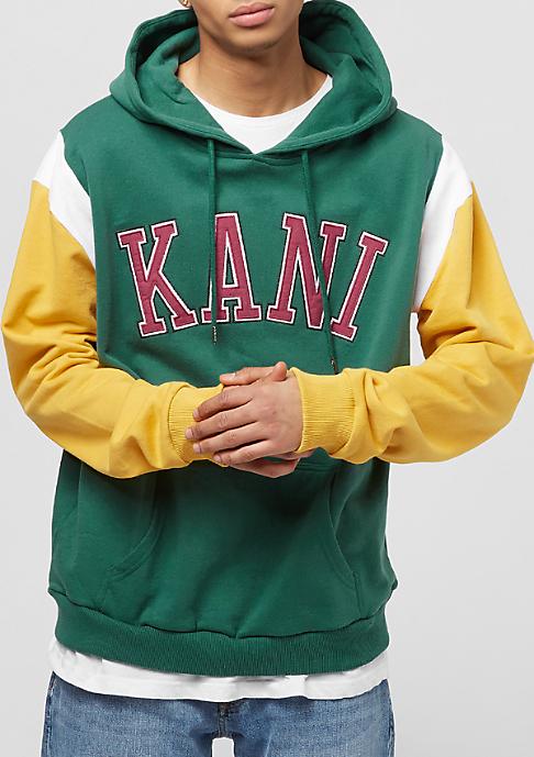 Karl Kani College Retro Hoodie green/yellow/white