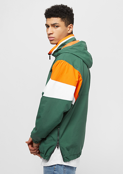Karl Kani Retro Blocked Windbreaker green/orange/white