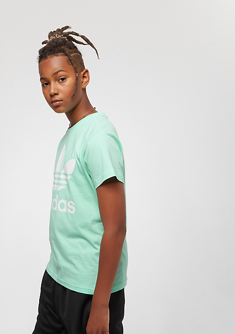 adidas Junior Trefoil clear mint/white