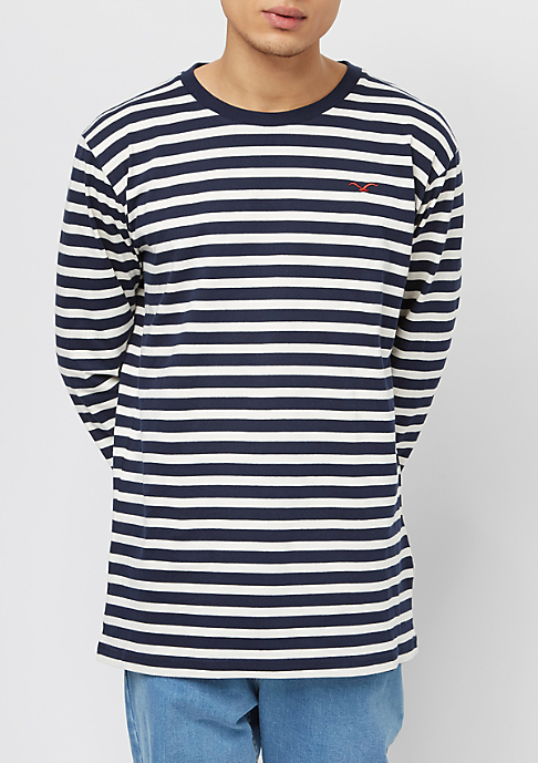 Cleptomanicx Classic Stripe 2 dark navy