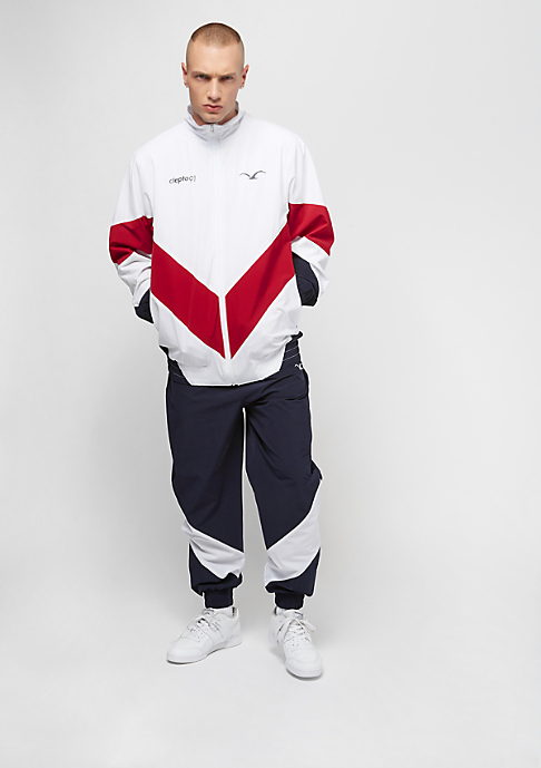 Cleptomanicx Track Jacket white