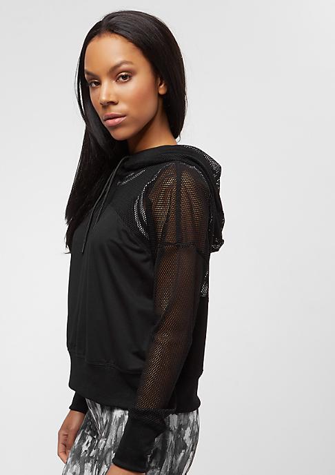 Urban Classics Ladies Mesh Hoody black